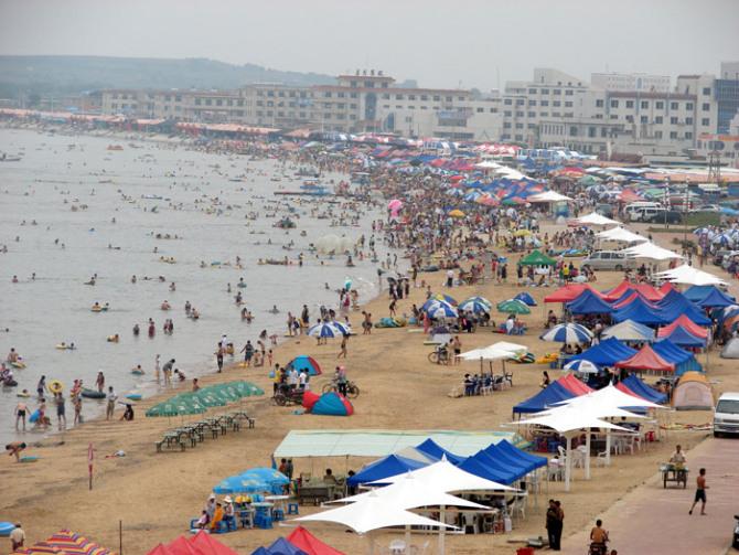 大连长兴岛海滨浴场